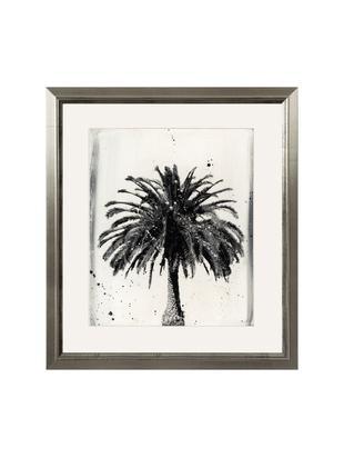 Stampa digitale incorniciata LA Dream, Immagine: stampa digitale, Cornice: legno, Immagine: nero, bianco cornice: argento, L 60 x A 70 cm