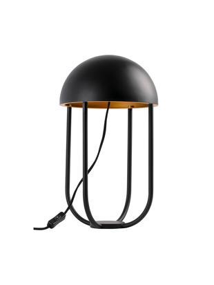 Design-LED Tischleuchte Jellyfish, Metall, pulverbeschichtet, Schwarz, Ø 25 x H 42 cm