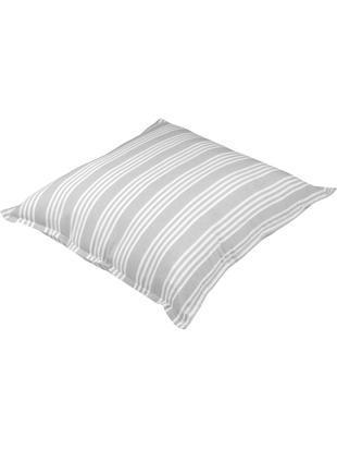 Poduszka podłogowa Mandelieu, Mieszanka bawełny, Jasnoszary, biały, S 80 x D 80 cm