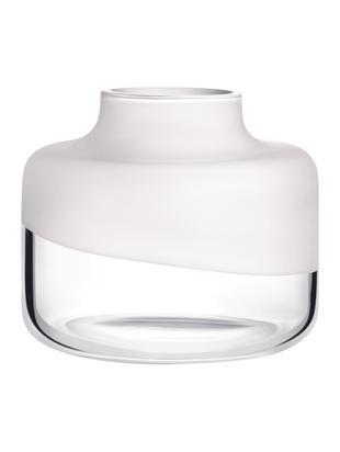 Vaso in vetro  fatto a mano  Magnolia, Vetro, Bianco trasparente, Ø 24 x Alt. 22 cm