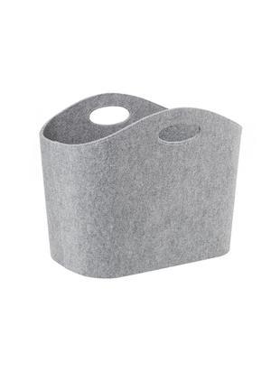 Cesta Mascha, Feltro in materiale sintetico riciclato, Grigio, L 45 x P 30 cm
