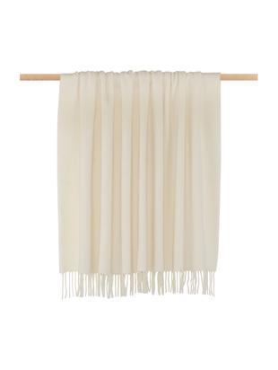 Manta de lana Aubrey, Crema, An 140 x L 186 cm