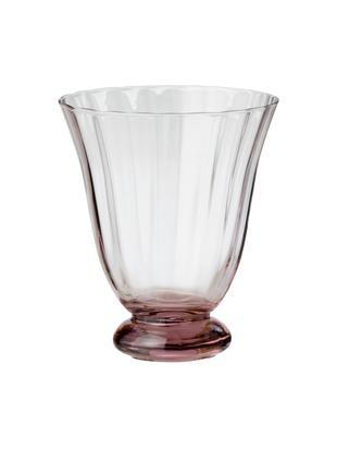 Bicchiere da vino senza gambo Trellis 2 pz, Vetro, Porpora, Ø 8 x Alt. 11 cm