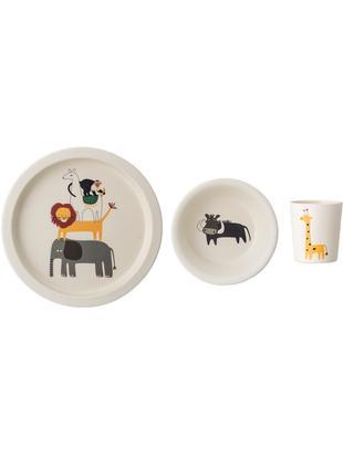 Set colazione Safari,  set di 3, Bambù, mais, melamina, legno, poliresina, Multicolore, Ø 21 cm