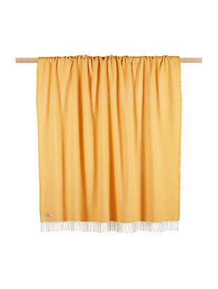 Pled Skyline, 50%bawełna, 50%akryl, Żółty szafranowy, złamana biel, S 140 x D 180 cm