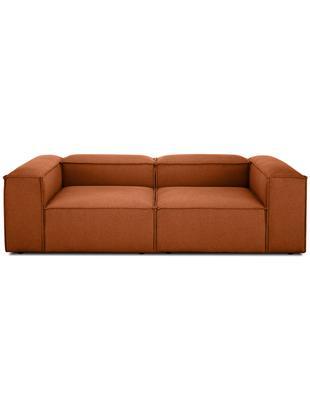 Sofa modułowa Lennon (3-osobowa), Tapicerka: 60% poliester, 40% wiskoz, Stelaż: lite drewno sosnowe, płyt, Nogi: tworzywo sztuczne, Terakota, S 238 x G 119 cm