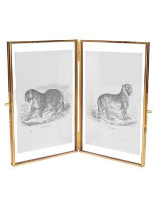 Ramka na zdjęcia z mosiądzu Cari, Mosiądz, 10 x 15 cm
