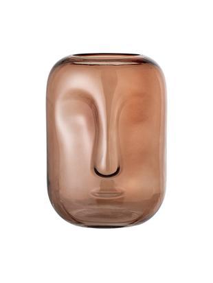 Vaas Face, Glas, Bruin, transparant, Ø 18 x H 25 cm