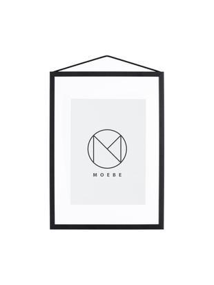 Bilderrahmen Frame, Rahmen: Aluminium, pulverbeschich, Rahmen: Schwarz<br>Aufhängung: Schwarz<br>Front und Rückseite: Transparent, 23 x 31 cm