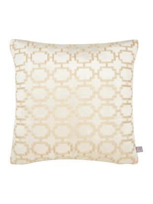 Poszewka na poduszkę z aksamitu Simone, Aksamit poliestrowy, Biały, S 43 x D 43 cm