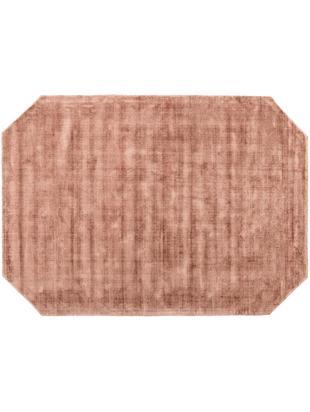 Tappeto in viscosa Jane Diamond, Vello: 100% viscosa, Retro: 100% cotone, Terracotta, Larg. 160 x Lung. 230 cm
