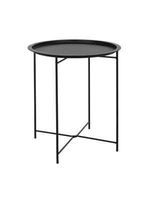 Stolik pomocniczy z metalu Wissant, Stal malowana proszkowo, Czarny, Ø 46 x W 52 cm