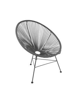 Fotel Bahia, Stelaż: metal malowany proszkowo, Tworzywo sztuczne: szary Stelaż: szary, S 81 x G 73 cm