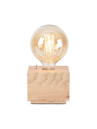 Lámpara de mesa de madera de fresno Kobe Square, Lámpara: madera de fresno, Cable: cubierto en tela, Ceniza, An 13 x Al 10 cm