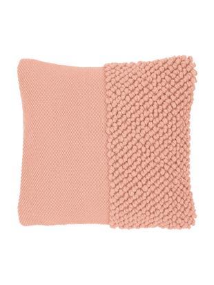 Poszewka na poduszkę Andi, 90% akryl, 10% bawełna, Morelowy, S 40 x D 40 cm