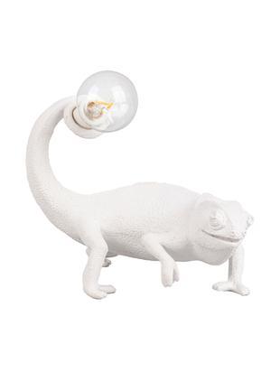 Lampada da tavolo Chameleon, Poliresina, Bianco, Larg. 17 x Alt. 14 cm