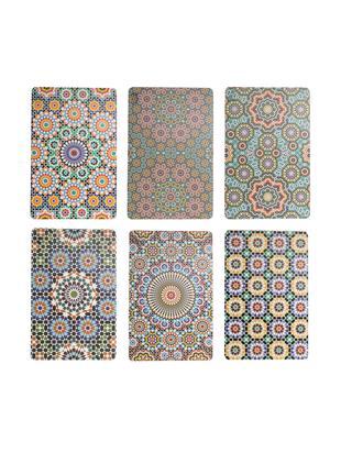 Kunststoff Tischsets Marrakech, 6er Set, Kunststoff, Mehrfarbig, 28 x 44 cm