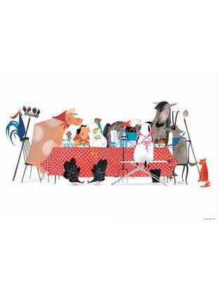 Poster Bon Appetit, Carta, Multicolore, Larg. 59 x Alt. 42 cm