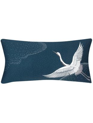 Poszewka na poduszkę z satyny bawełnianej Rosi, 2 szt., Niebieski, biały, szary, S 40 x D 80 cm