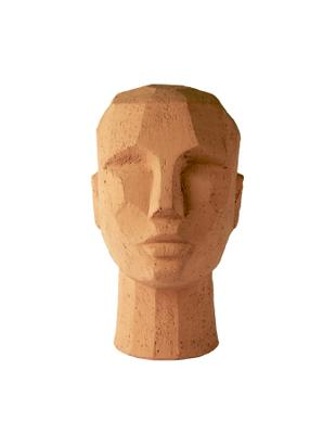 Oggetto decorativo Head, Terracotta, Terracotta, Larg. 18 x Alt. 25 cm