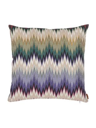 Design kussen Phrae met zigzag patroon, met vulling, Multicolour, 40 x 40 cm