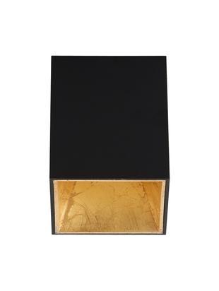 LED Deckenleuchte Marty, Schwarz,Goldfarben, 10 x 12 cm