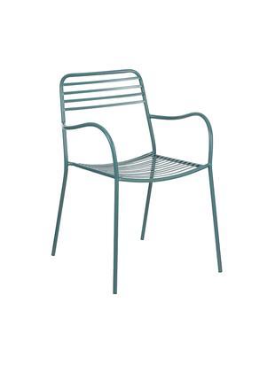 Krzesło balkonowe z metalu z podłokietnikami Tula, 2 szt.