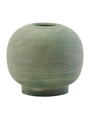 Jarrón artesanal pequeño de gres Bobbles, Gres, Verde, Ø 7 x Al 7 cm