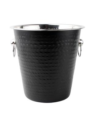 Cooler Onur, Stal szlachetna, powlekana i młotkowana, Czarny, Ø 22 x W 21 cm