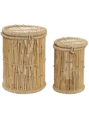 Set de cestas Jambu, 2pzas., Cesta: Bambú, Beige, Tamaños diferentes