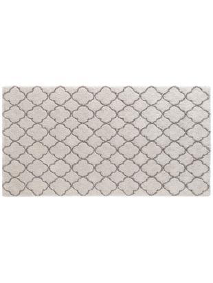 Hochflor-Teppich Grace in Creme-Grau, Flor: Polypropylen, Creme, Grau, B 80 x L 150 cm (Größe XS)