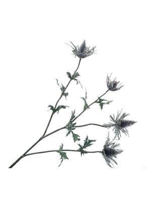 Sztuczny kwiat ostu Daniel, Tworzywo sztuczne, metal, Lila, szary, zielony, D 77 cm