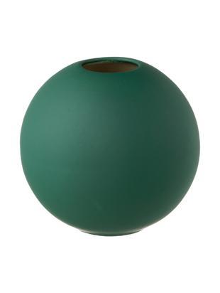 Ręcznie wykonany wazon Ball, Ceramika, Ciemny zielony, Ø 8 x W 8 cm
