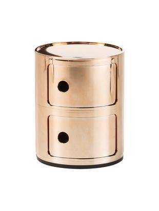 Kleiner Design Container Componibile, Kunststoff, metallicbeschichtet, Kupferfarben, Ø 32 x H 40 cm