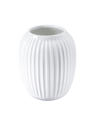 Vaso di design fatto a mano Hammershøi, Porcellana, Bianco, Ø 17 x Alt. 20 cm