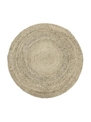 Tappeto in juta tessuto a mano Sharmila, Vello: juta, Retro: juta, Beige, Ø 100 cm (taglia XS)