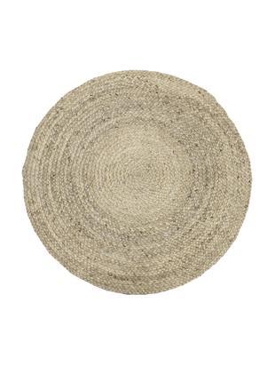 Runder Jute-Teppich Sharmila, handgefertigt, Flor: Jute, Beige, Ø 100 cm (Größe XS)