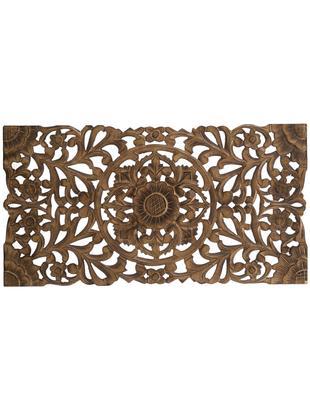 Ręcznie wykonana dekoracja ścienna Samira, Płyta pilśniowa (MDF), Brązowy, antyczne wykończenie, S 85 x W 45 cm