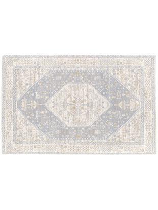 Ręcznie tkany dywan szenilowy Neapel, Jasny szary, kremowy, taupe, S 120 x D 180 cm
