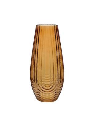 Große Glas-Vase Ionic, Glas, Braun, Ø 16 x H 35 cm