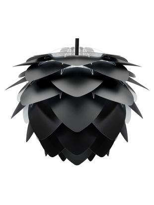 Lámpara de techo Silvia, set para montar, Pantalla: polipropileno, Cable: cubierto en tela, Negro, Ø 32 x Al 25 cm