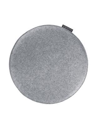 Okrągła poduszka na siedzisko z filcu Avaro, 4 szt., Szary, Ø 35 x W 1 cm