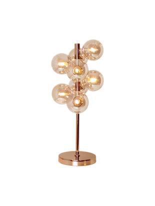 Lámpara de mesa regulable Splendor, Latón pintado, vidrio, teñido, Latón, ámbar, An 25 x Al 57 cm