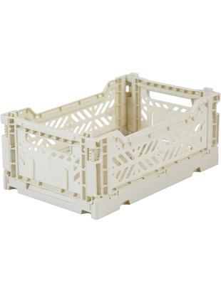 Klappbox Coconut Milk, stapelbar, klein, Recycelter Kunststoff, Gebrochenes Weiss, 27 x 11 cm