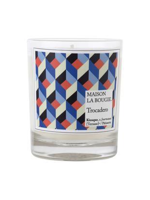 Duftkerze Trocadero (Nelke, Weißer Moschus & Gardenie), Behälter: Glas, Weiß, Blau, Schwarz, Rot, Ø 8 x H 9 cm
