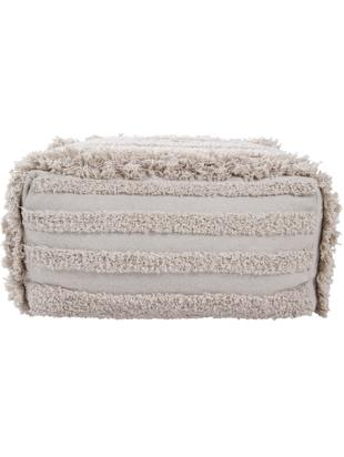 Flauschiges Boho Bodenkissen Air, Bezug: 70% Baumwolle, 30% recyce, Beige, 55 x 27 cm
