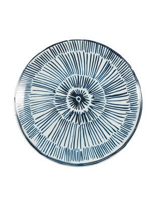 Podstawka pod talerz Masai, 4 szt., Porcelana, Ciemnyniebieski, biały, Ø 31 cm