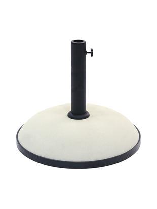 Podstawa parasola The Rock, Beton, metal powlekany, Czarny, kremowy, Ø 36 x W 29 cm