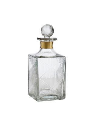 Dekanter Diamond, Glas, Transparent<br>Rand: Goldfarben, H 19 cm