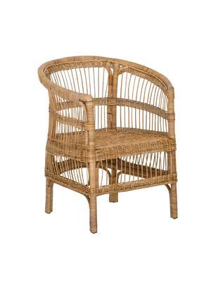 Sedia con braccioli in vimini  Palma, Rattan, Rattan, Larg. 60 x Alt. 82 cm
